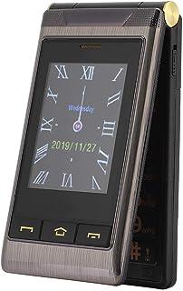 Flip Teléfono Celular fácil de Usar para Personas Mayores, Escritura a Mano G10-C Pantalla Dual Modo de Espera Largo 2G Te...