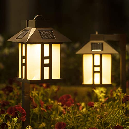 high quality Solpex Solar Garden Lights, Garden Lights Solar Powered, Waterproof Solar Yard Lights for Lawn, Patio, Yard, Pathway, Walkway and sale Driveway(2 online Pack, Warm White) outlet online sale