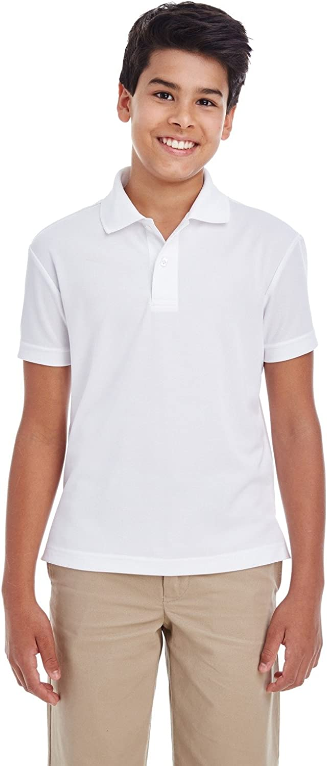 Ash City 88181Y C3 Youth ORGN PERF Pique Polo White 701 S