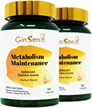 GinSen 2 x Metabolism Booster Tablets 60 Caps Helps Weight Loss Digestion Bloating Gas Relief Improves Metabolic Health Vegan Vegetarian Natural Made in UK Estimated Price : £ 19,60