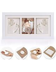 新生児ベビーフレーム 手形 足形 フォトフレーム 置き掛け兼用 無毒で安全 赤ちゃん 出産祝い 内祝い ベビー記念品 成長記録 ギフト