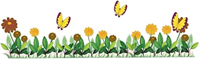 Wallstick Flowers with Butterflies (Vinyl 150 cm x 50 cm) …