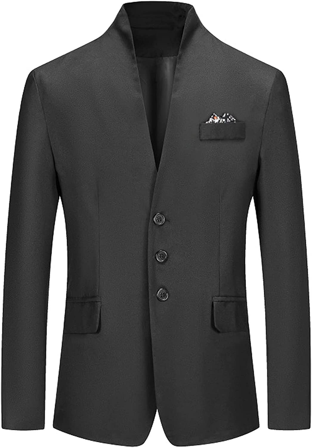 Mens Blazer Jacket Slim Fit Casual Three Button Solid Suit Separate Jacket Daily Bussiness Wedding Jacke Dress Tops