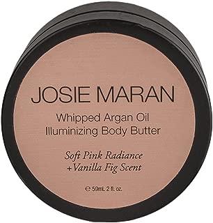 Josie Maran Whipped Argan Oil Illuminizing Body Butter (Travel (2oz/59ml), Soft Pink Radiance (vanilla fig))