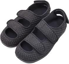 Women's Extra Wide Width Adjustable Slippers, Diabetic & Edema Slippers Swollen Feet Walking Shoes Indoor/Outdoor Orthopedic Sandals