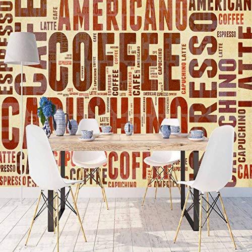 Pbbzl fotobehang uit de onderkant van de keuken, voor de keuken, Del Murale van stof, afwasbaar, 3D-print van Brown Yellow Del Grande Caffè 350 x 250 cm