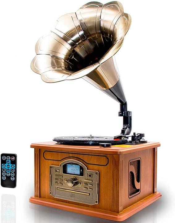 Giradischi vinile vintage grammafono con la funzione di codifica bluetooth- lettore cd/mp3/usb cl147