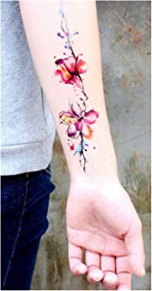 Qqinghan Tijdelijke Armband Tattoos Waterdichte Tijdelijke Tattoo Sticker Bloem Tattoo Mouw Vrouwen Pols Arm Mouwen Tatoo ...