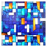 Buydecorativefilm BDF 3ABST2 Window Film Abstract Stained Glass (36' X 53' (2 Continuous Patterns))