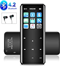 MP3 Player with Bluetooth 4.2,Music MP3 Player with FM Radio and Speaker,Resolution Lossless Support up to 128GB,Black