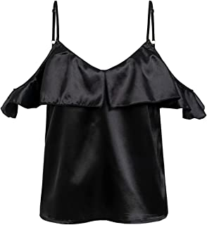 d4899a8f48a Amazon.ca: Satin - Blouses & Button-Down Shirts / Tops & Tees ...
