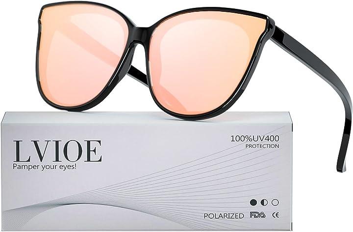 Occhiali da sole polarizzati da donna ideali per guidare lvioe montatura confortevole con protezione uv400 B07KV49D6T