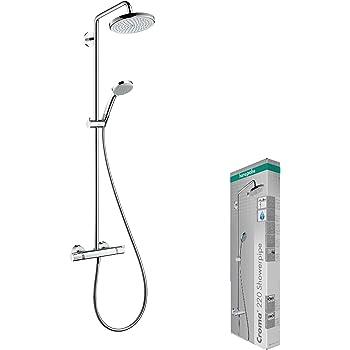 Hansgrohe 27256400 Croma Select E 180 columna de ducha, 4 tipos de ...