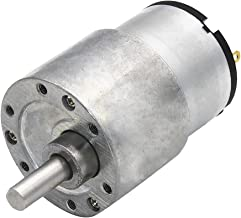 Perfk Aluminum DC Geared Motor Metal Gearbox For Electrical Equipment - Silver, 960RPM