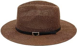 Bin Zhang Summer Straw Hat Women Sun Hat Fedora Hat Elegant Lady Classic Jazz Hat Shade Big Hat Outdoor Travel Beach Hat