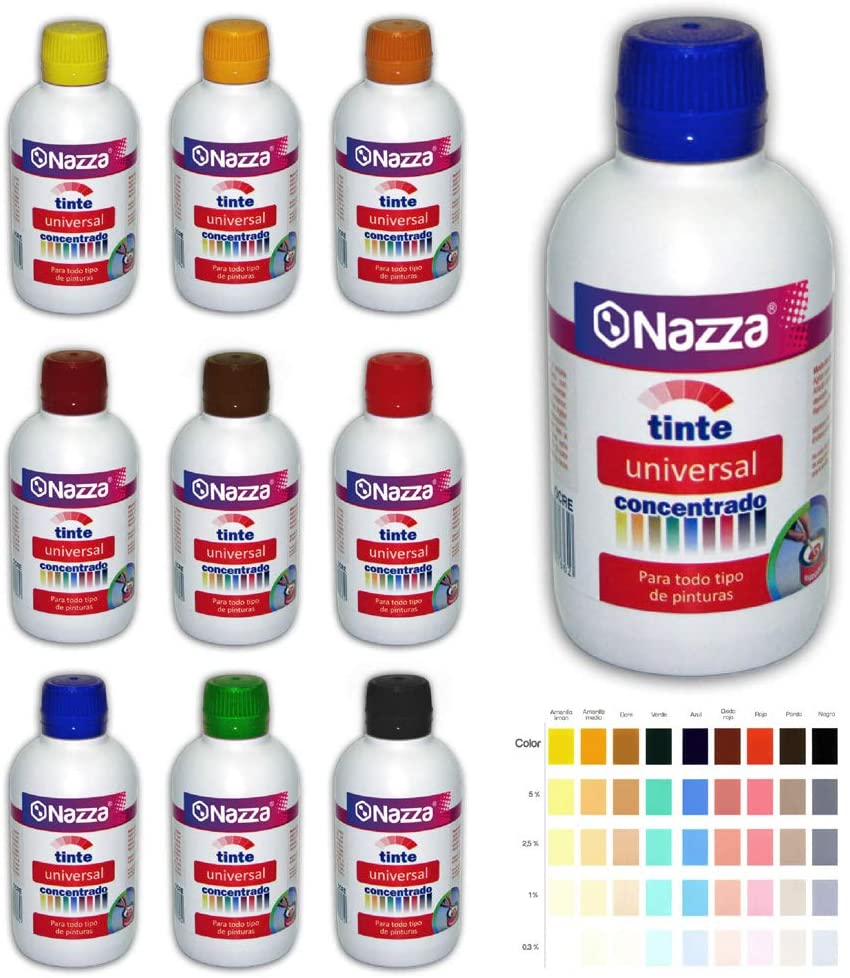 Tintes Universales Concentrados para Pinturas de todo tipo | Muy recomendado también para Resinas y barnices al Agua | Color Rojo Intenso | Formato de ...