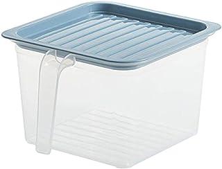5/1 pièces cuisine boîte de rangement transparente bocal scellé grains haricots organisateur de stockage contenants alimen...