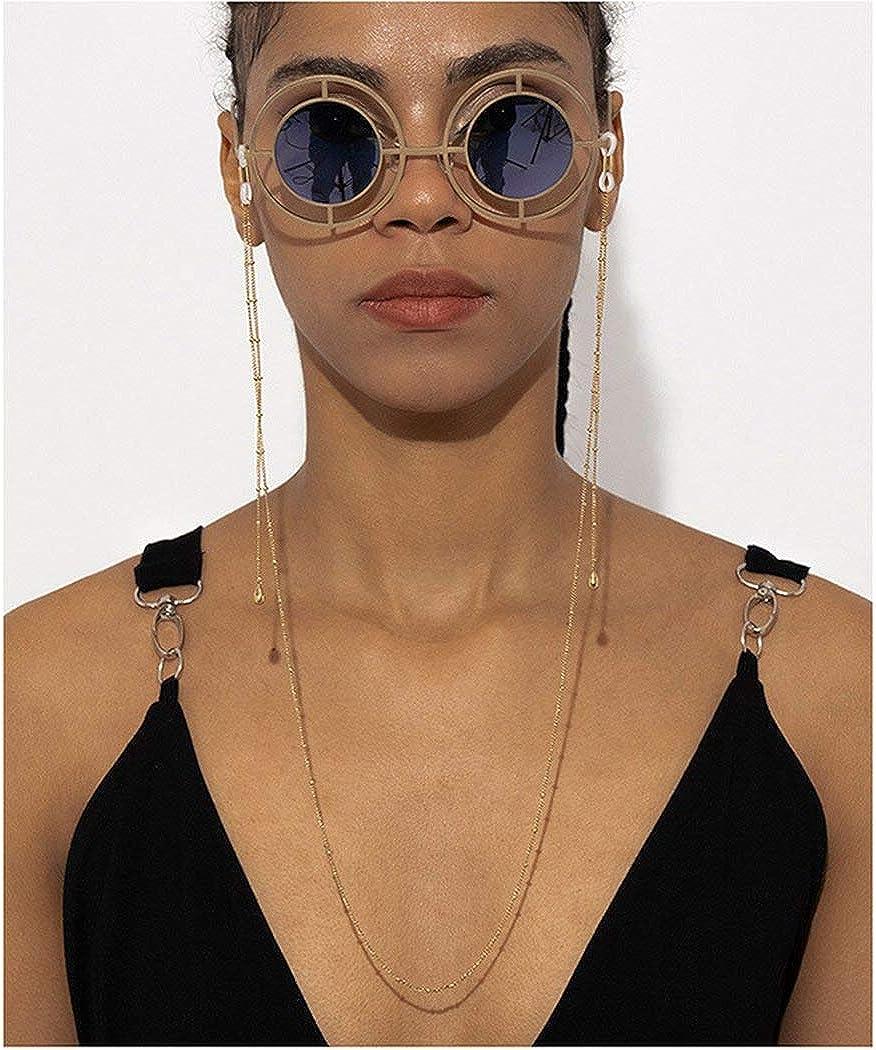 Ursumy outlet Gold Layered Glasses Necklace Holder St Beaded Eyeglasses Sales for sale