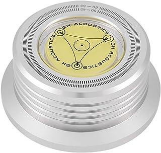 Salaty Stabilizzatore di Registrazione Silver eliminazione delle Vibrazioni per Giradischi per Giradischi Morsetto di Registrazione a Bolla ad Alta precisione Incorporato 50 // 60Hz
