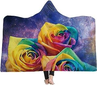 [HomeMiYN]ひざかけ 着る毛布 フード付き 花模様 9種類