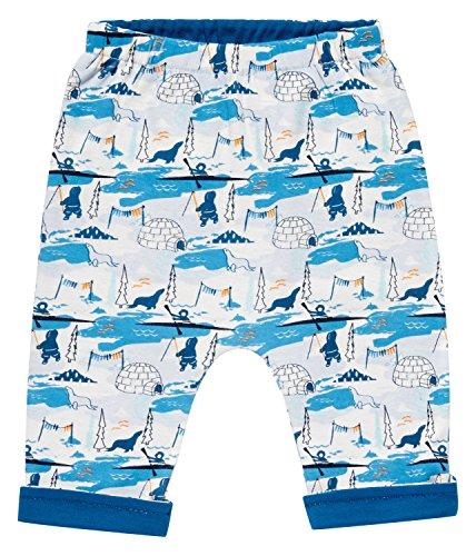 Sense Organics Baker Hose (beidseitig tragbar) Pantalon, Multicolore (AOP Arctic Scene + Teal), 12 Mois Bébé garçon