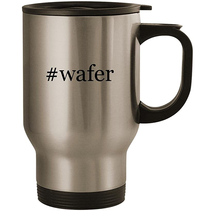 #wafer - Stainless Steel 14oz Road Ready Travel Mug, Silver