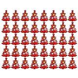 SALUTUYA 8 x 6,5 cm, Telas no Tejidas, con Mano de Obra Fina, Parche de árbol de Navidad, Adornos navideños, para Pegatinas de Pared para Festivales