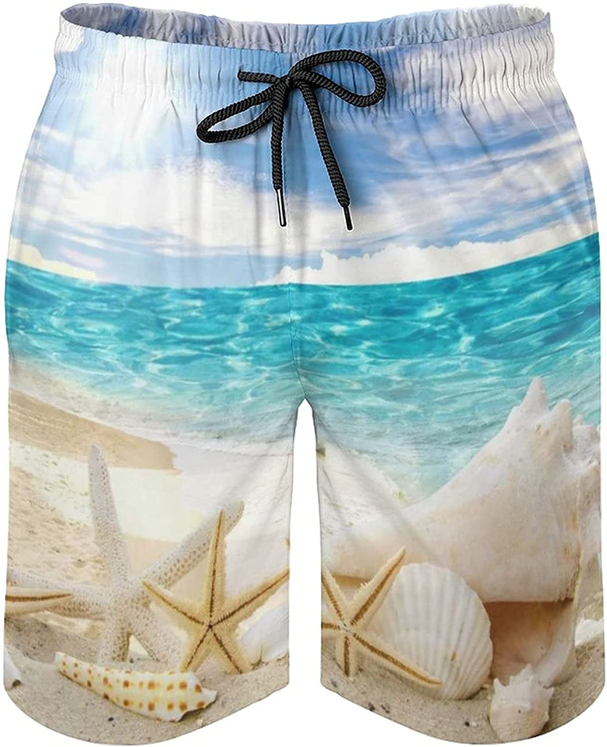 NiYoung Men's Fashion Swim Trunks Quick Dry Beach Board Shorts with Pocket