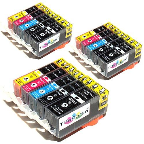 15x Canon Pixma MX870 Kompatible Druckerpatronen - Cyan/Gelb/Magenta/Schwarz- PATRONEN MIT CHIP