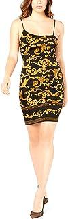 GUESS Women's Jenny Gilded Scuba-Knit Dress