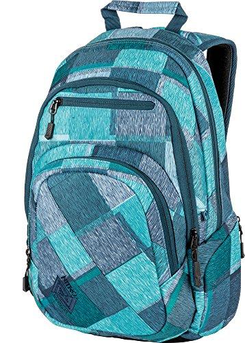 Nitro Stash Rucksack Schulrucksack Schoolbag Daypack Damenrucksack Schultasche schöne Rucksäcke Alltag Fahrradtasche, Zebra Ice, 29L