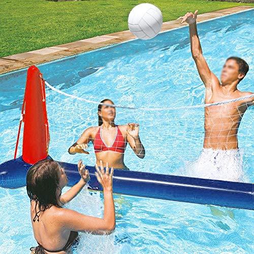 MYSY Aufblasbarer Pool Schwimmball-Set Volleyballnetz und Basketballkorb, einschließlich Ballschwimmspielzeug für Kinder und Erwachsene, Schwimmball, Sommerblumenball, Volleyballfeld (A)