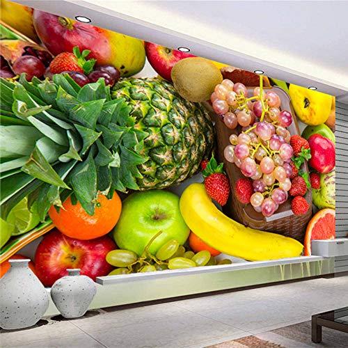 JIAOYK Fotomurales AbstractoColor y fruta Fotomurales Muro alquería Sala Living Dormitorio Oficina 350cm(W) x250cm(H)