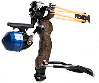 TOPARCHERY High Velocity Hunting Archery Bow Fishing Reel Slingshot Slingbow Catapult Arrow Brush Wrist Arrows Rest (1x Slingshot)