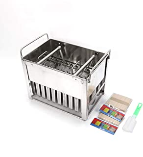 30PCS Stainless Steel Ice Cream Pop Molds Frozen Popsicle Maker Lolly Mould Ice Cream Stick Holder + Cleaning Brush