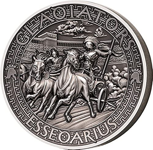 Power Coin ESSEDARIUS Gladiators 2 Oz Silber Münze 5  Solomon Islands 2017