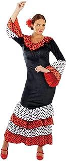 Fun Shack Schwarzes Flamenco Tänzerin Kostüm für Damen, Spanisches Kleid