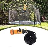 Elikliv Trampoline Sprinkler, Outdoor Backyard Water Park Sprinkler for Kids Summer Fun, Boys