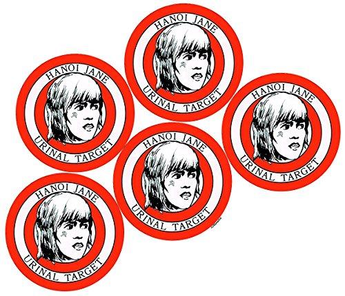 AV8America Hanoi Jane Urinal Targets, Package of 5