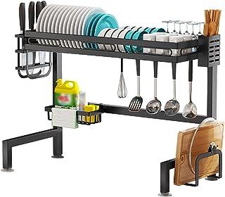 Eervff Support D'évier De Cuisine, Support De Rangement De Vaisselle, Support De Vaisselle Multifonctionnel, Égouttoir, Su...