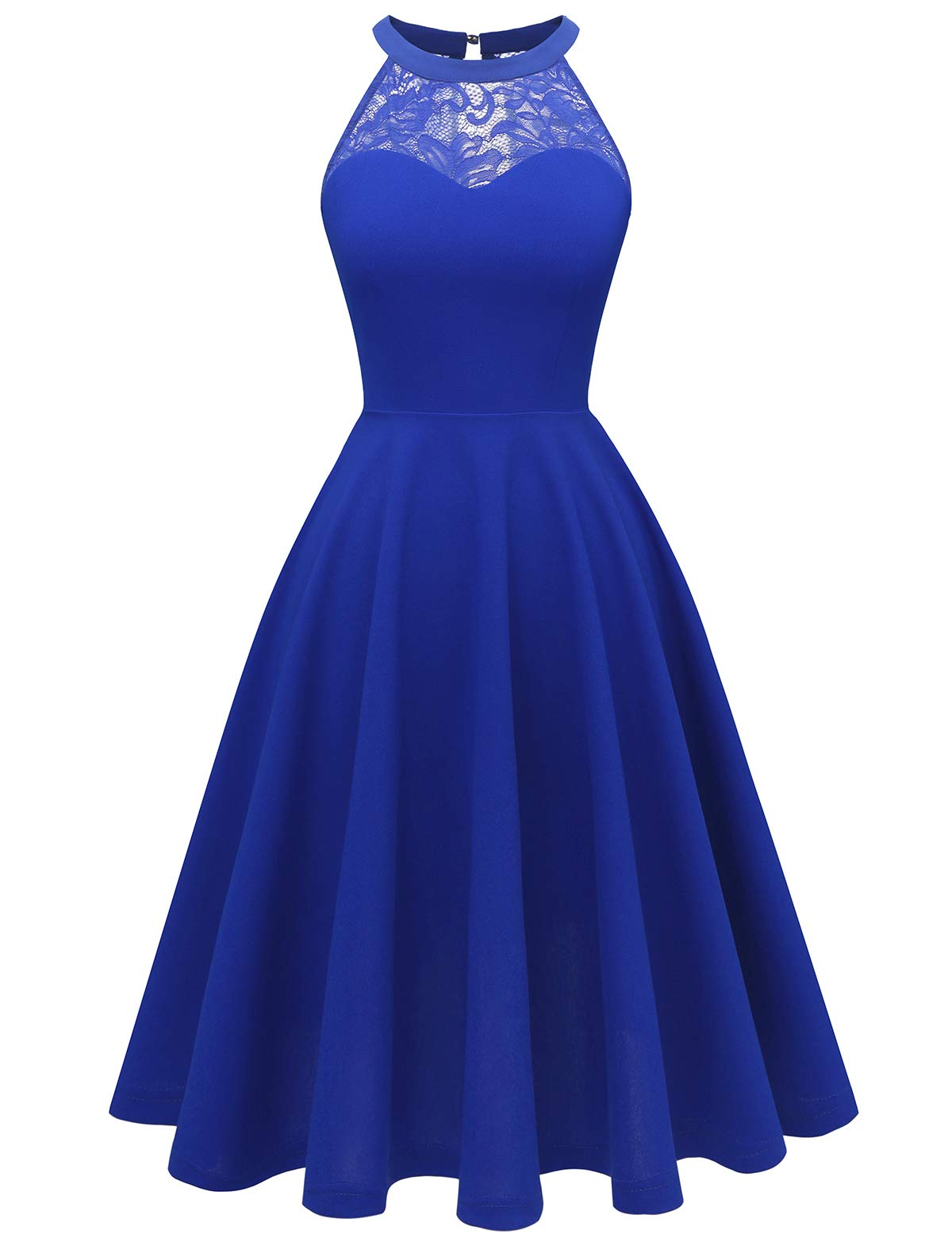 Available at Amazon: Bbonlinedress Women's Halter Lace Bridesmaid Dress Short Prom Party Cocktail Swing Dress
