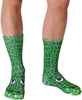 Crocodile Photo Print Crew Socks