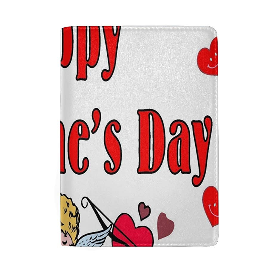 Passport Holder Valentine's Day Cupid Envelope Passport Cover Case Wallet Card Storage Organizer for Men Women Kids