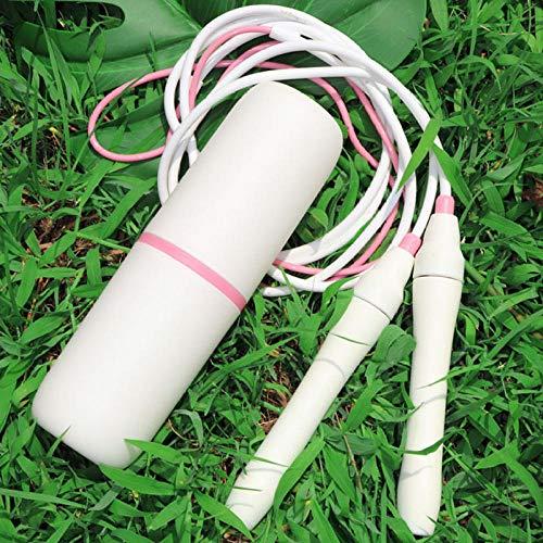 Cuerda de salto de longitud ajustable Cuerda de saltar de velocidad rápida sin enredos con rodamientos de bolas Cubo de almacenamiento Gimnasio Fitness Ejercicio en casa-bicolor