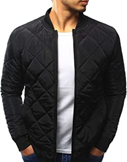 Men's Winter Warm Solid Slim Fit Thick Coat Casual Bomber Jacket