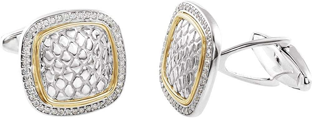 1 2 Cttw Diamond Snake Print Cuff = Links Max 71% OFF Width National products 18mm .50