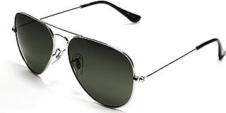 47398f1d2f Aviator Lunettes de Soleil Classique Métal Cadre Sunglasses avec UV400  Protection pour Homme Femme