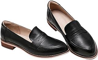 [のグレープフルーツ プラム] レディース パンプス ローファー 本革 レディース 学生靴 スクール