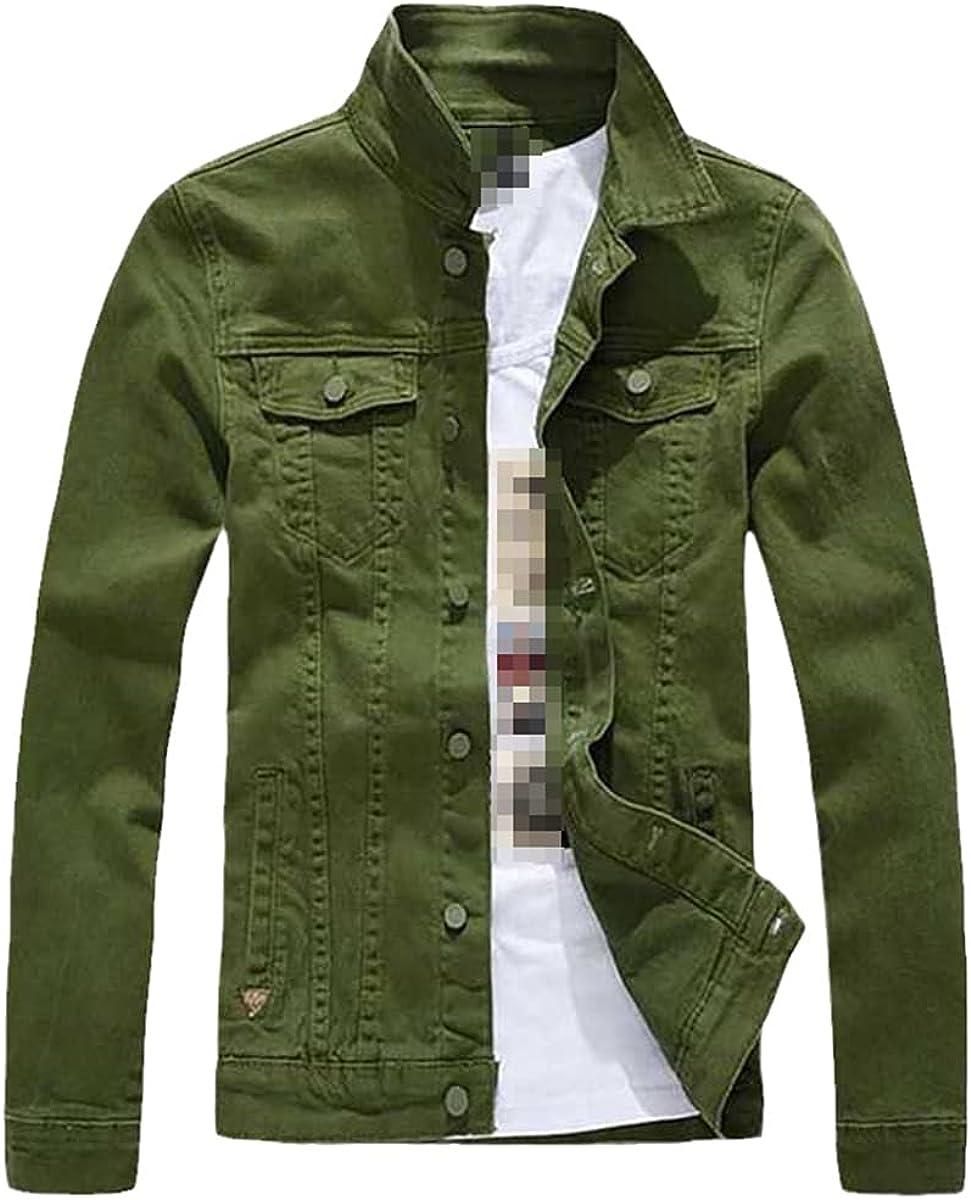Fashion Men's Denim Jacket Casual Slim Jeans Jacket Cotton Jacket Men's Clothing