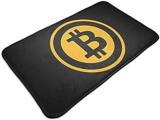 TEIJWETEIJT Alfombrilla antideslizante para puerta con logotipo de Bitcoin, alfombra de entrada frontal, para cocina, baño